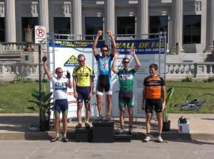 Pro, 1, 2 Iowa Criterium Championship Podium