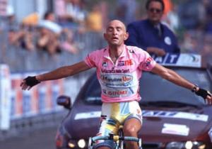 Can someone tell me the race and the stage that Pantani won here?